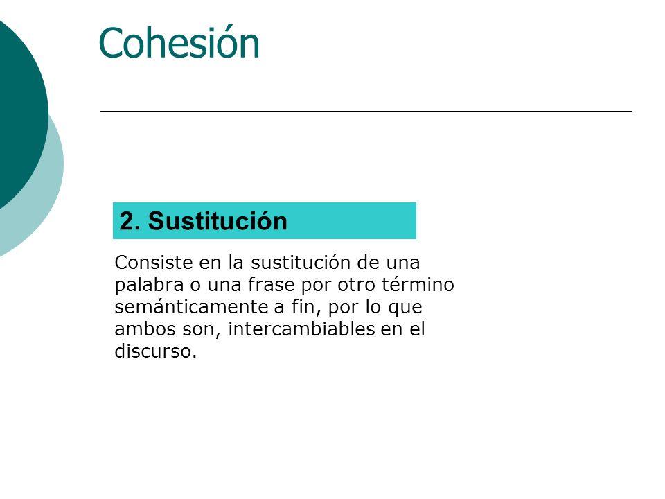 La cohesión gramatical Los mecanismos más utilizados son los pronombres (pronominalización) y los morfemas.