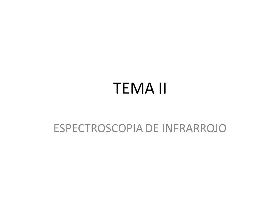TEMA II ESPECTROSCOPIA DE INFRARROJO
