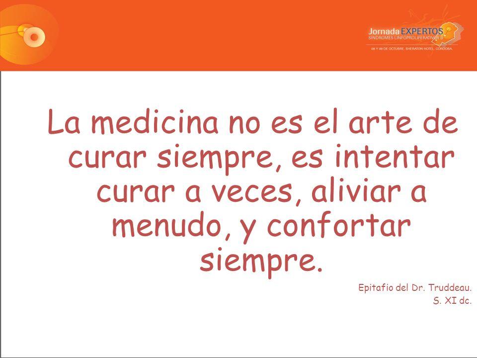 La medicina no es el arte de curar siempre, es intentar curar a veces, aliviar a menudo, y confortar siempre.