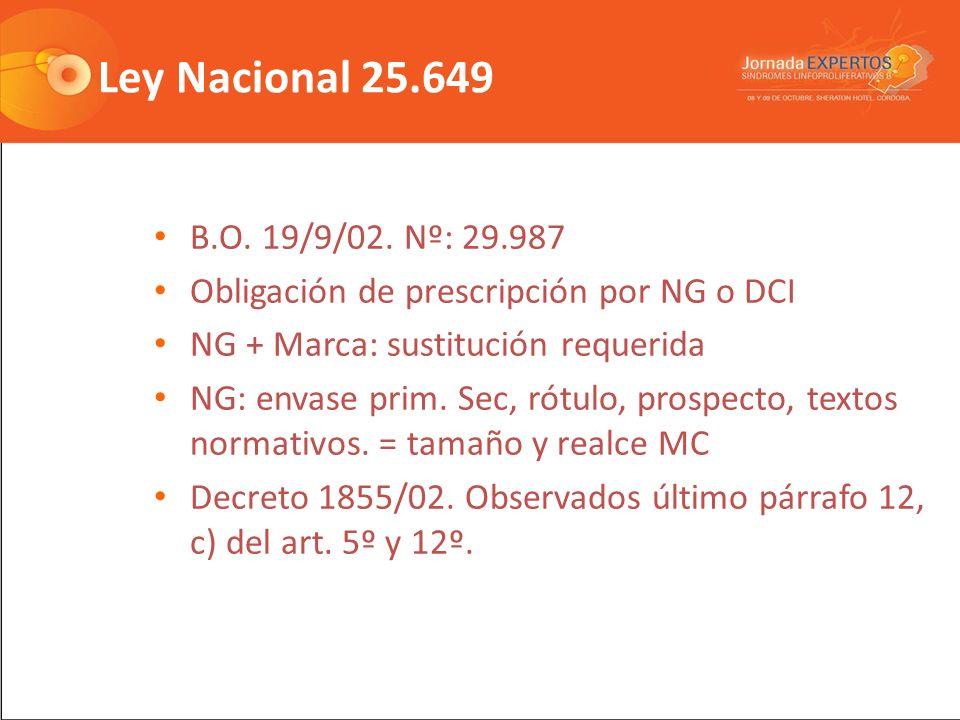 Ley Nacional 25.649 B.O.19/9/02.