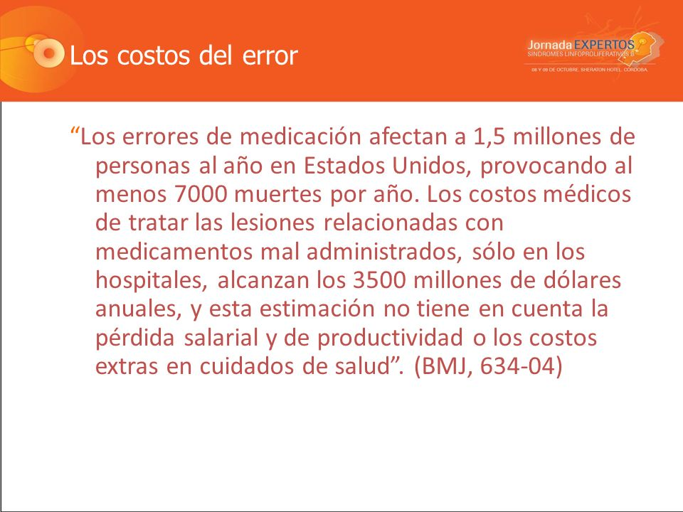 Error en Medicaci ó n Reino Unido: 1 de cada 20 dosis es incorrecta.