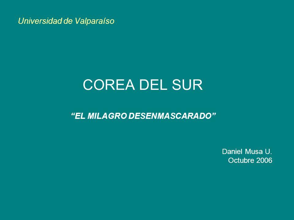 Universidad de Valparaíso COREA DEL SUR EL MILAGRO DESENMASCARADO Daniel Musa U. Octubre 2006