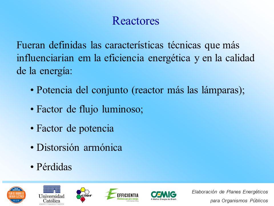 Elaboración de Planes Energéticos para Organismos Públicos Fueran definidas las características técnicas que más influenciarian em la eficiencia energ
