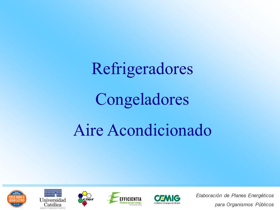 Elaboración de Planes Energéticos para Organismos Públicos Refrigeradores Congeladores Aire Acondicionado