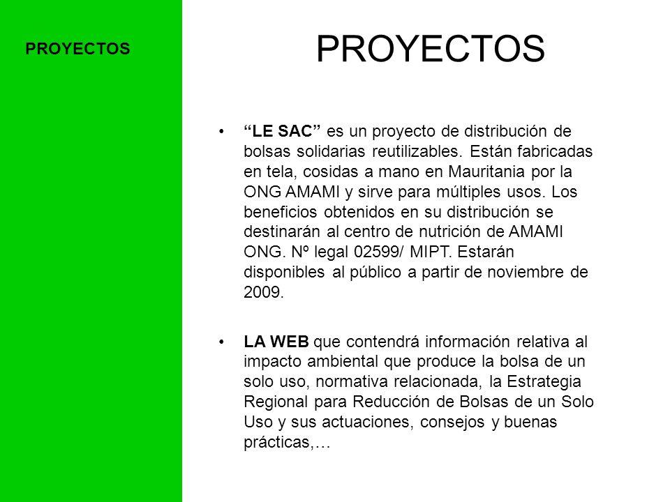 LE SAC es un proyecto de distribución de bolsas solidarias reutilizables.