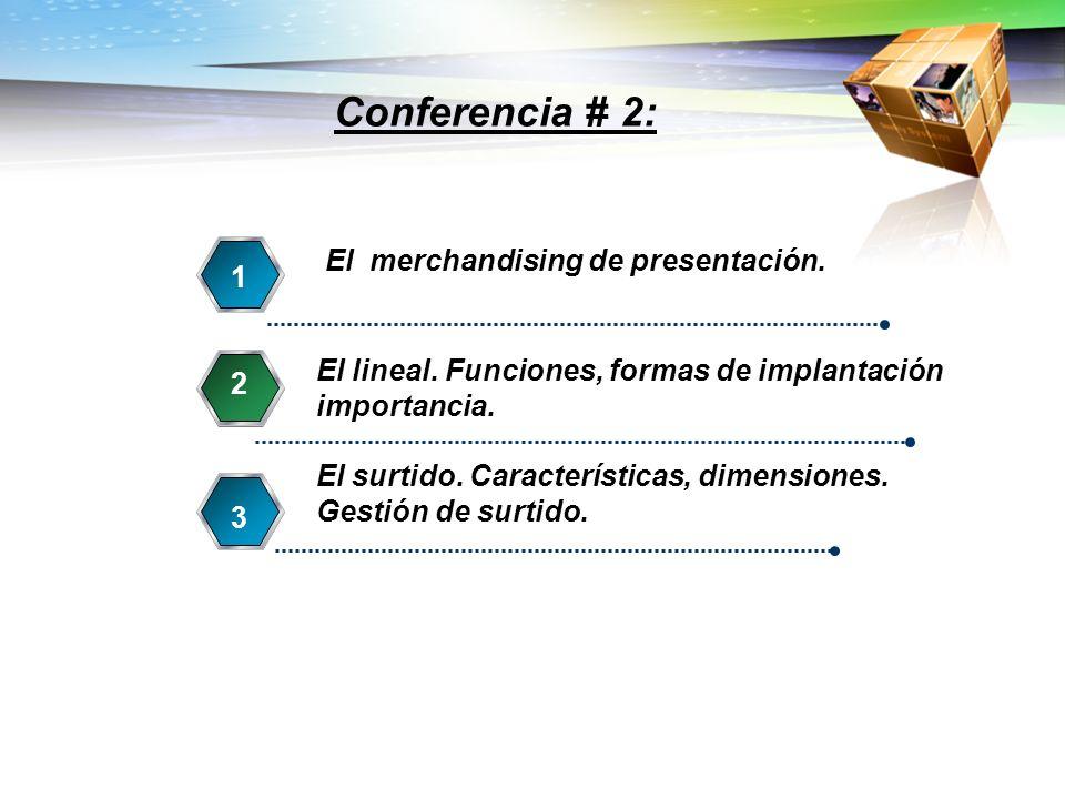 El merchandising de presentación. 1 El lineal. Funciones, formas de implantación importancia. 2 El surtido. Características, dimensiones. Gestión de s