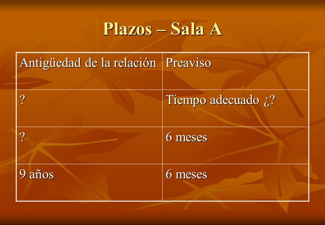 Plazos – Sala A (cont.) Paradiso Trans SRL C/ Massalin Particulares SA S/ Ord. (03/05/2007) Paradiso Trans SRL C/ Massalin Particulares SA S/ Ord. (03/05/2007) Nieva, Maria Cristina C/ Baesa (Buenos Aires Embotelladora SA) hoy Cerveceria y Malteria Quilmes Saicayg -CMQ- y otro S/ Ordinario (29/11/01)Nieva, Maria Cristina C/ Baesa (Buenos Aires Embotelladora SA) hoy Cerveceria y Malteria Quilmes Saicayg -CMQ- y otro S/ Ordinario (29/11/01) Distribuidora Pucara de Dominguez y Garcia C/ Nobleza Picardo SAIC y F.
