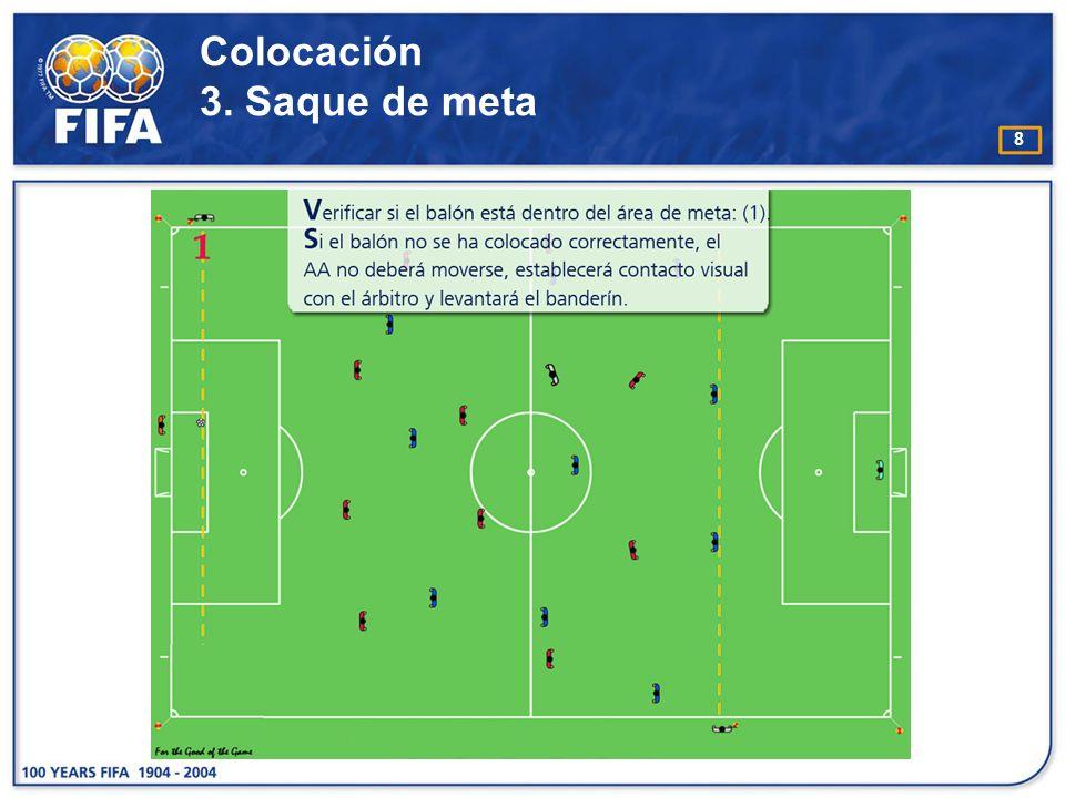 19 Técnica de desplazamiento C omo regla general, los árbitros asistentes deben estar de cara al terreno de juego.