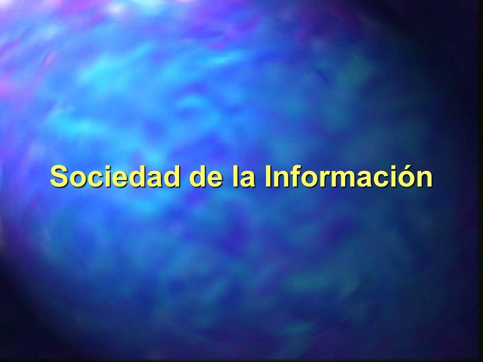 Caracterizada por: -el incremento del uso de la información, -el crecimiento de la producción de servicios, -la sustitución de bienes tangibles por intangibles, - la universalización de las tecnologías de la información y la comunicación, -y la reorganización del tiempo y del espacio.