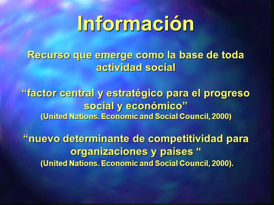 Información -- Sentido más amplio, -donde la información es tratada en un contexto...