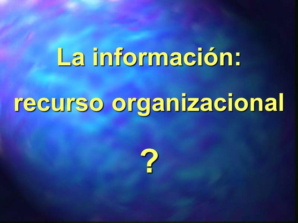 proceso mediante el cual se obtienen, despliegan o utilizan recursos básicos (económicos, físicos, humanos, materiales) para manejar información dentro y para la sociedad a la que sirve.