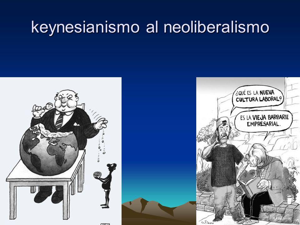 keynesianismo al neoliberalismo