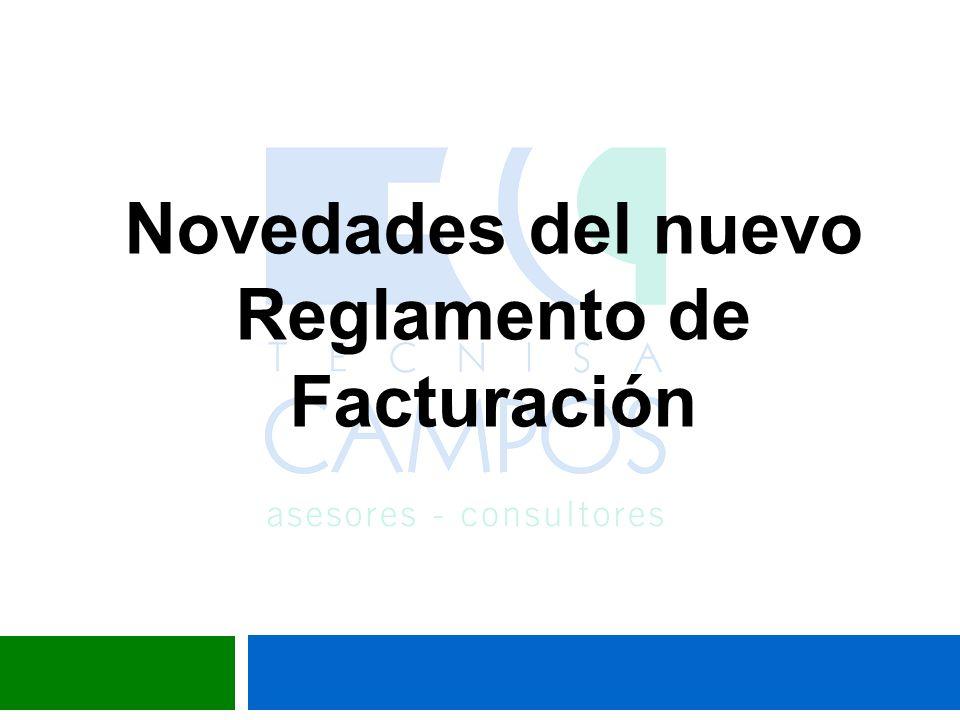 RD 1619/2012, de 30 de noviembre, por el que se aprueba el reglamento por el que se regulan las obligaciones de facturación