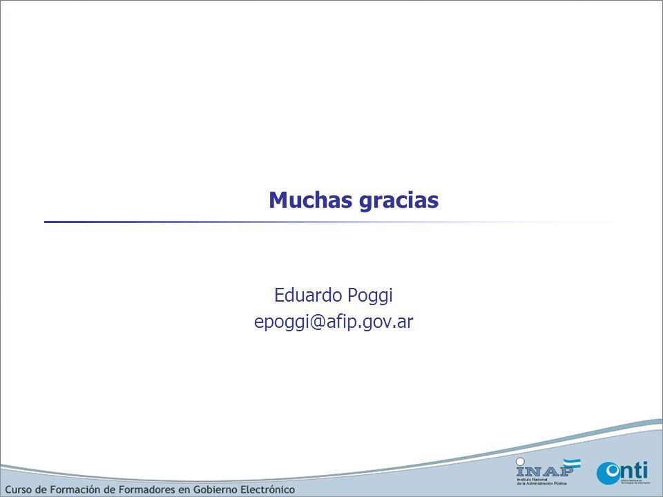 Muchas gracias Eduardo Poggi epoggi@afip.gov.ar