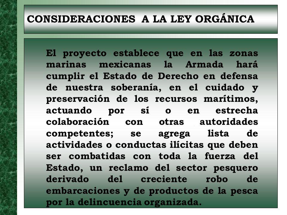 CONSIDERACIONES A LA LEY DE DISCIPLINA La sustitución de la figura de depósito por la disposición en espera de órdenes, limitándola al término de un año para seguridad jurídica de los miembros de la Armada.
