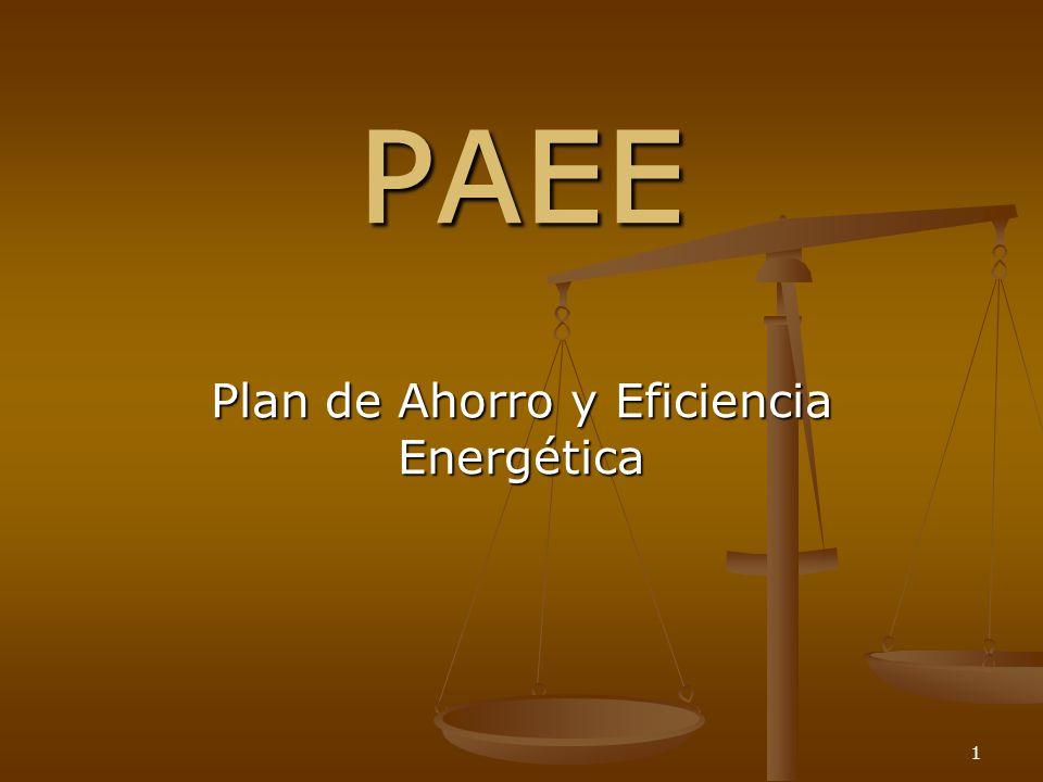 1 PAEE Plan de Ahorro y Eficiencia Energética