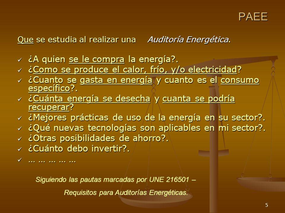 5 Que se estudia al realizar una Auditoría Energética.
