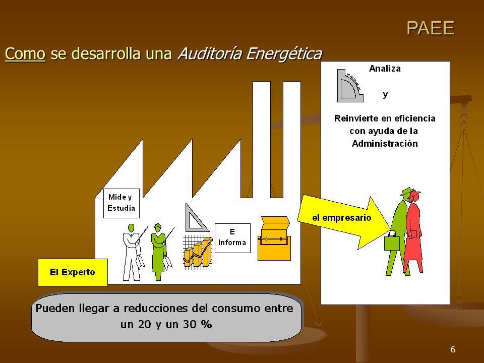 6 PAEE Como se desarrolla una Auditoría Energética