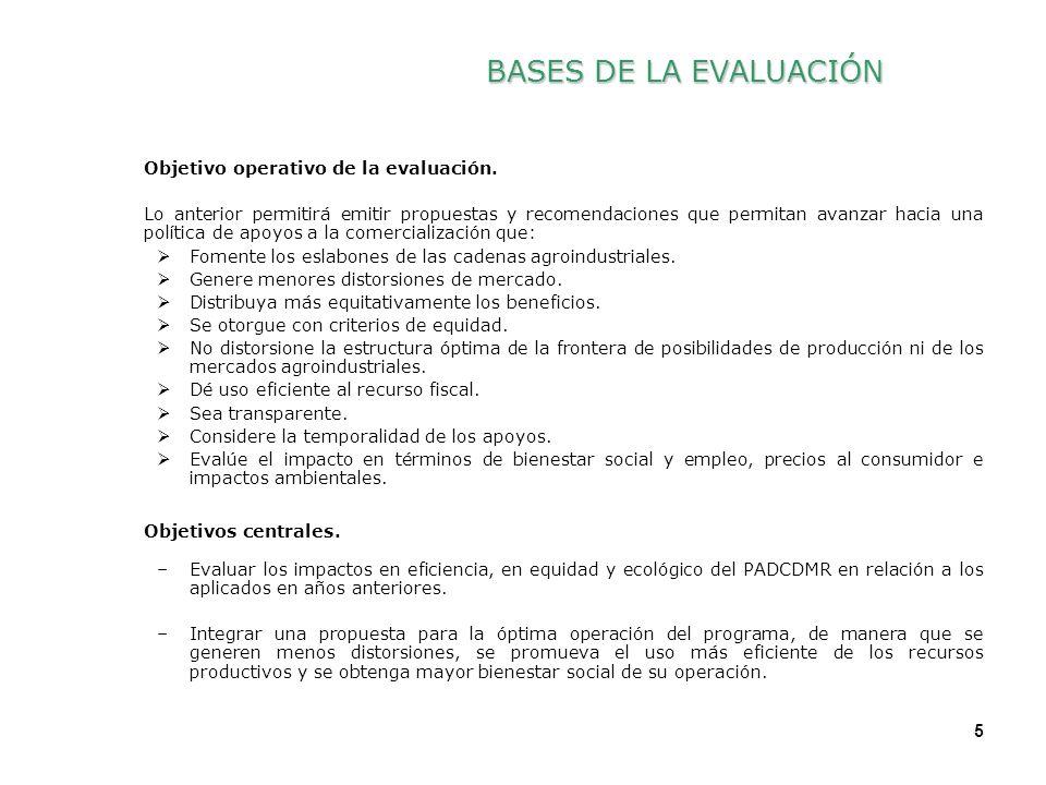 5 5 Objetivo operativo de la evaluación.
