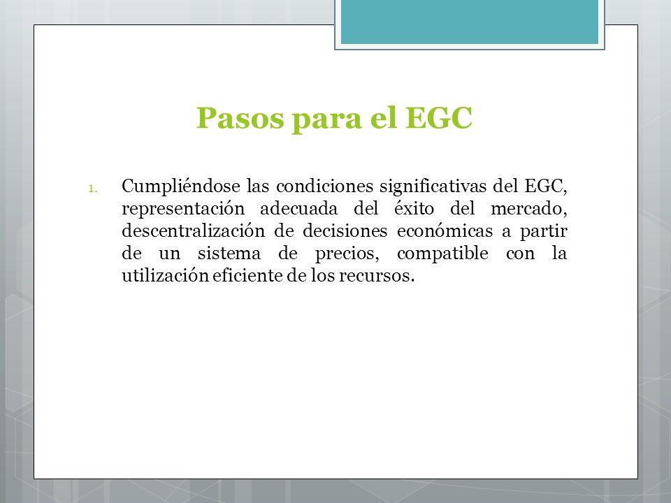 Pasos para el EGC 1.