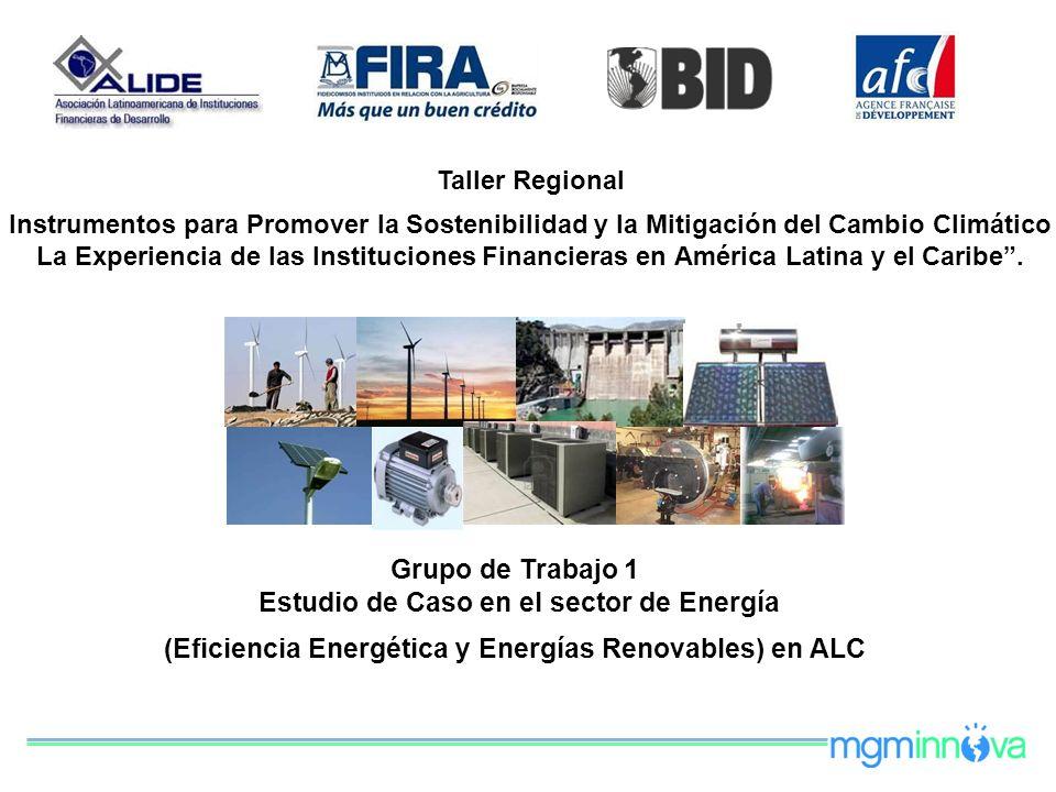 Taller Regional Instrumentos para Promover la Sostenibilidad y la Mitigación del Cambio Climático La Experiencia de las Instituciones Financieras en