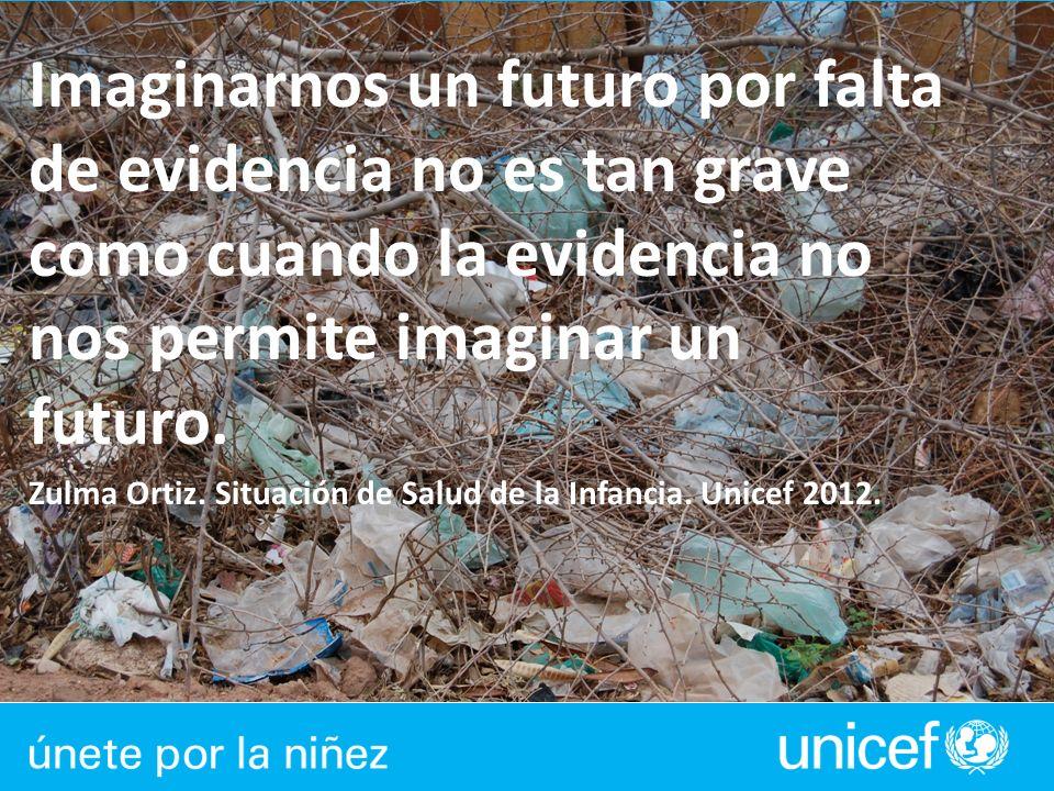 Imaginarnos un futuro por falta de evidencia no es tan grave como cuando la evidencia no nos permite imaginar un futuro. Zulma Ortiz. Situación de Sal