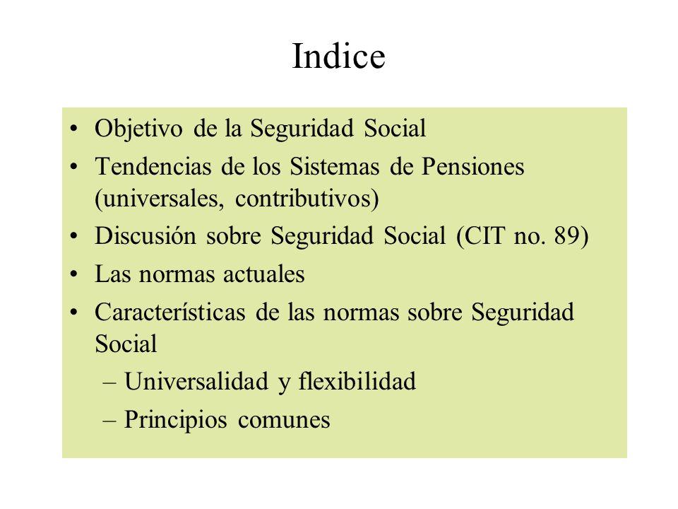 Prestaciones por invalidez Recomendación 131 propone la exensión del derecho a este beneficio a los trabajadores ocasionales y a toda la fuerza laboral