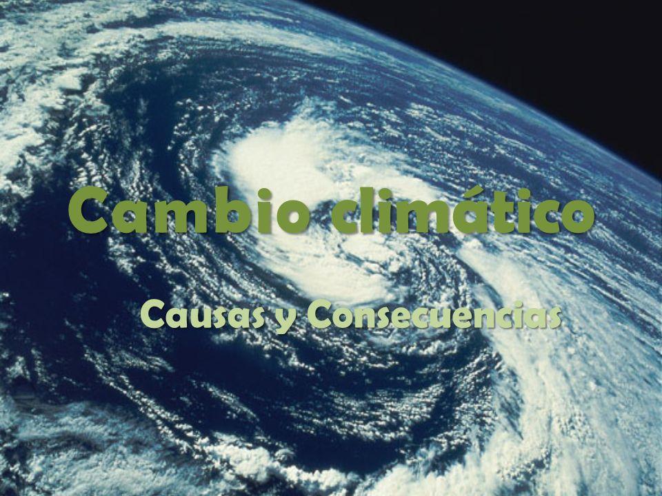 Algunas causas y consecuencias del cambio climático: