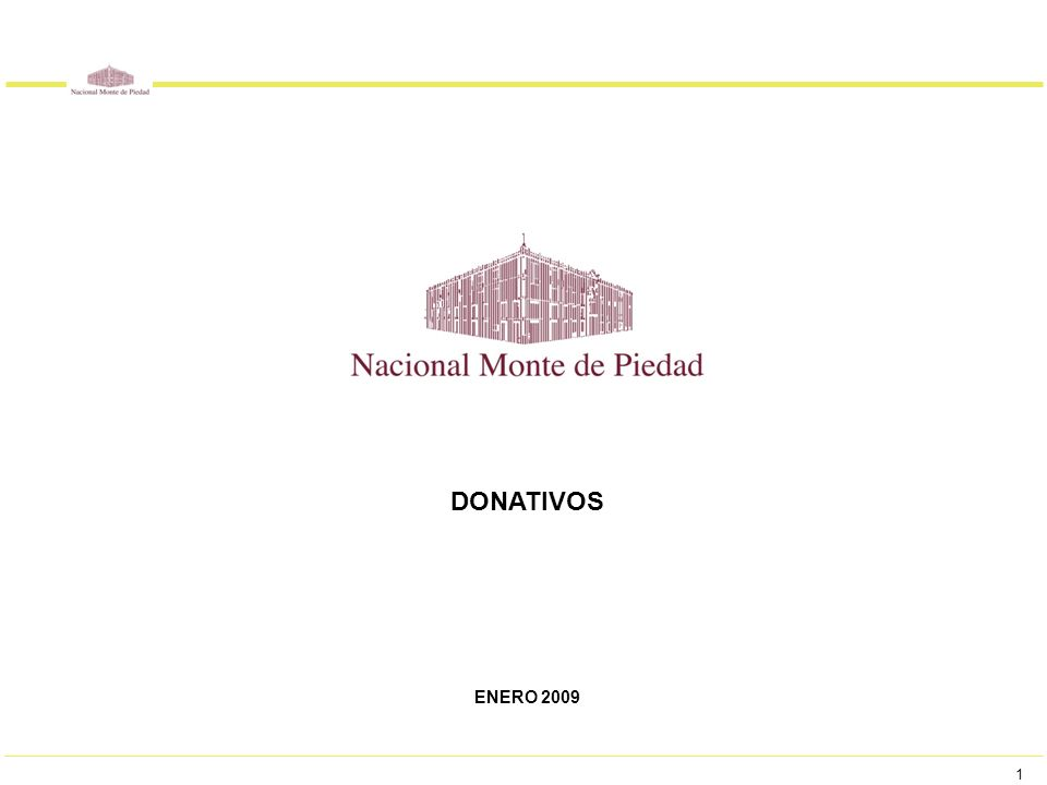 1 DONATIVOS ENERO 2009