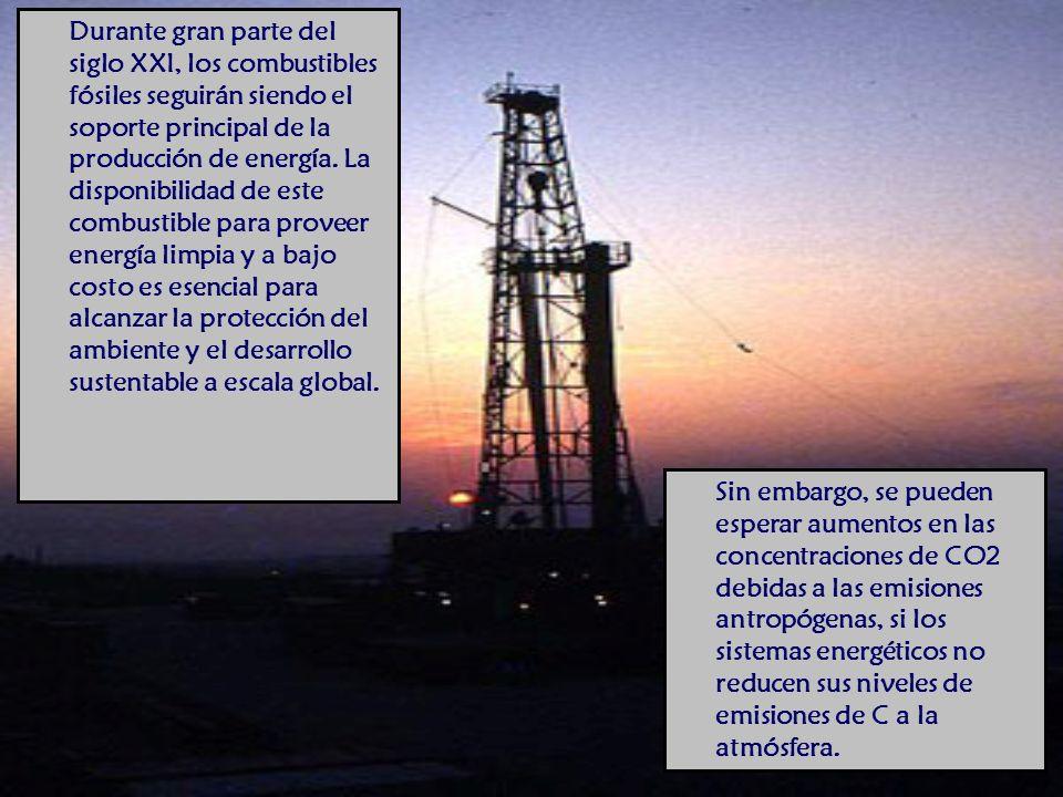 Durante gran parte del siglo XXI, los combustibles fósiles seguirán siendo el soporte principal de la producción de energía.