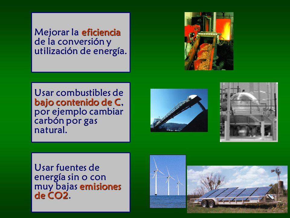 eficiencia Mejorar la eficiencia de la conversión y utilización de energía.