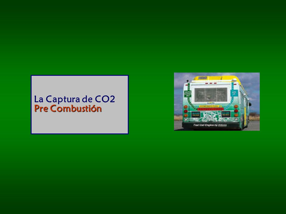 Pre Combustión La Captura de CO2 Pre Combustión