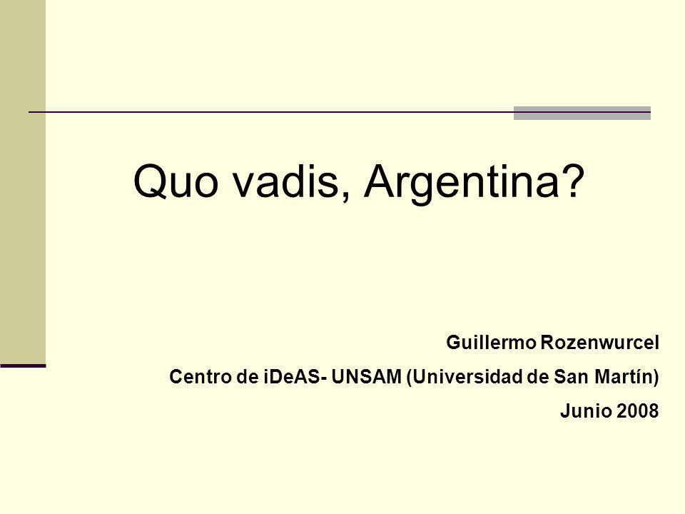 Quo vadis, Argentina.
