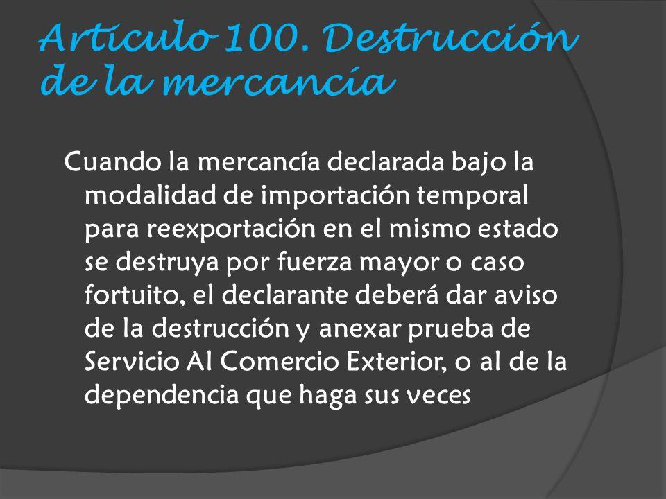 Articulo 100.