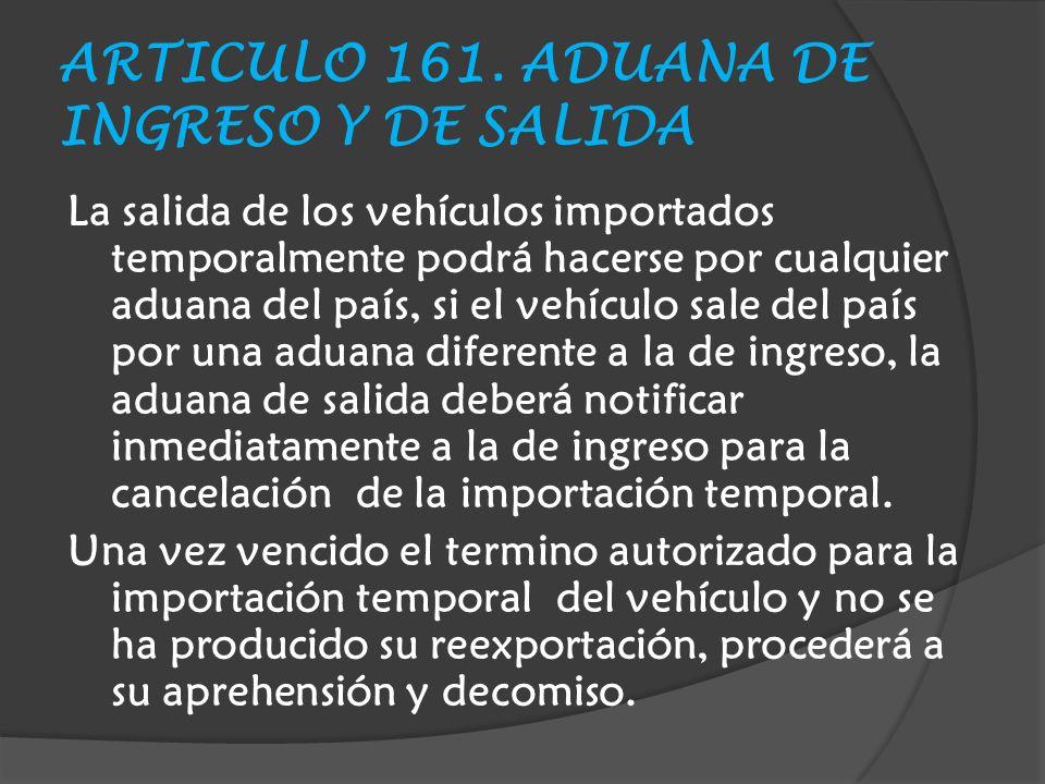 ARTICULO 161.