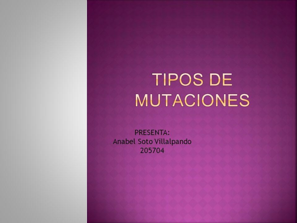 Segun la importancia del cambio genetico las mutaciones pueden presentarse en varias categorias: 1.