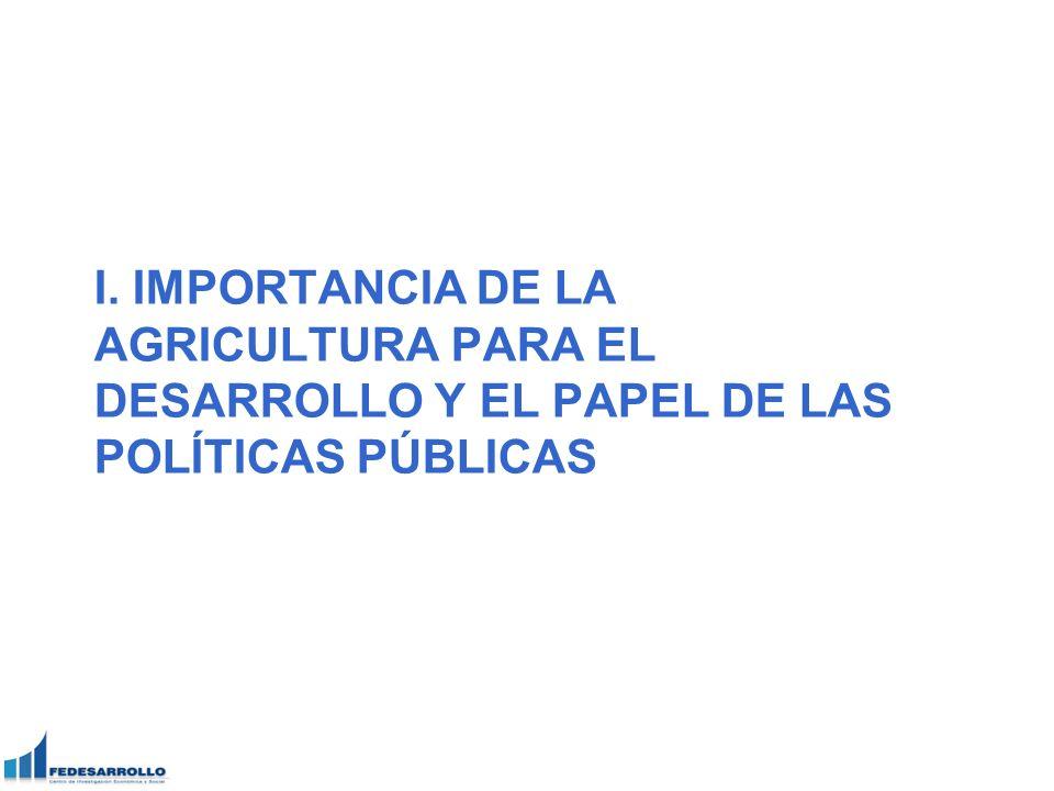 I. IMPORTANCIA DE LA AGRICULTURA PARA EL DESARROLLO Y EL PAPEL DE LAS POLÍTICAS PÚBLICAS