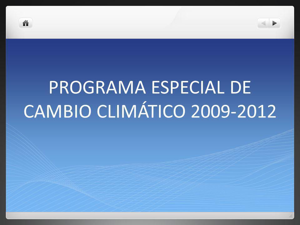 Capítulo 1- Visión a largo plazo Reducción en un 50% de las emisiones de GEI para el 2050 (año 2000) Nivel de concentraciones de CO2e menor a 450 pxm (.045%)