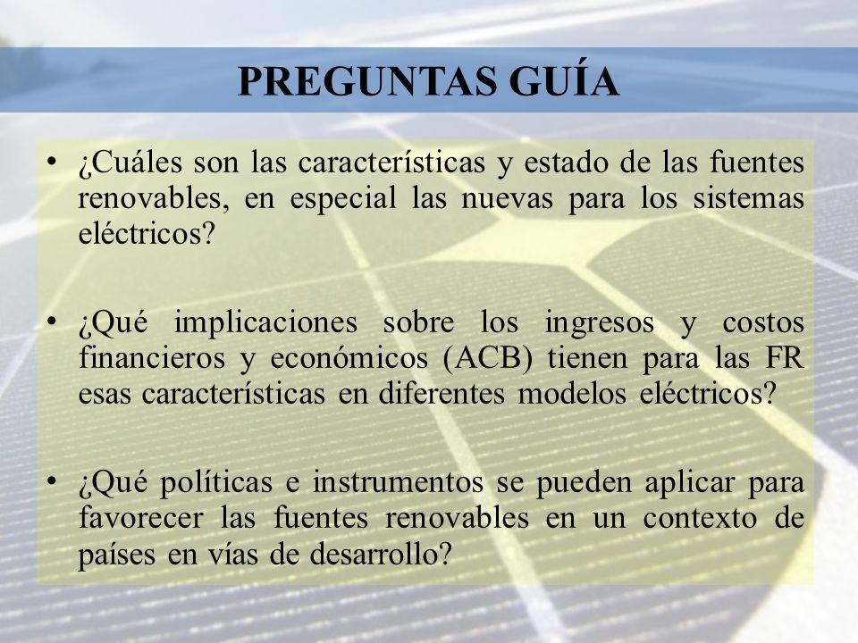 Instrumentos de política existentes: Investigación potenciales, planes y programas.