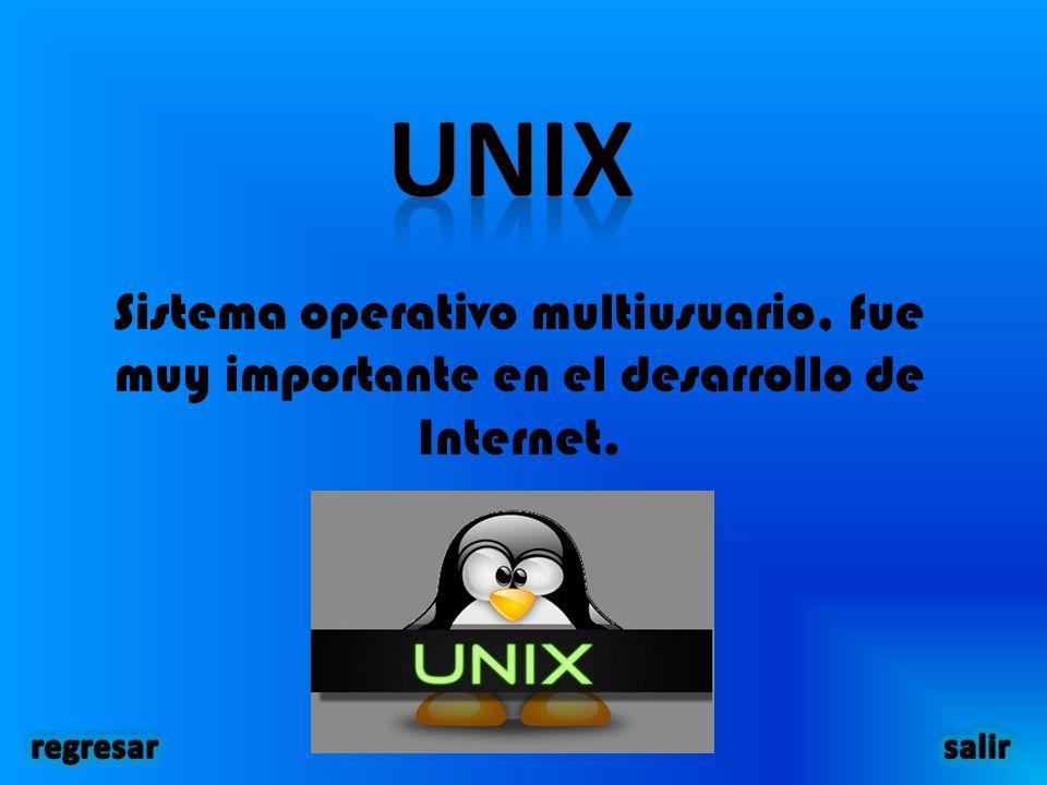 Sistema operativo multiusuario, fue muy importante en el desarrollo de Internet.