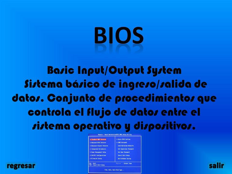 Basic Input/Output System Sistema básico de ingreso/salida de datos.