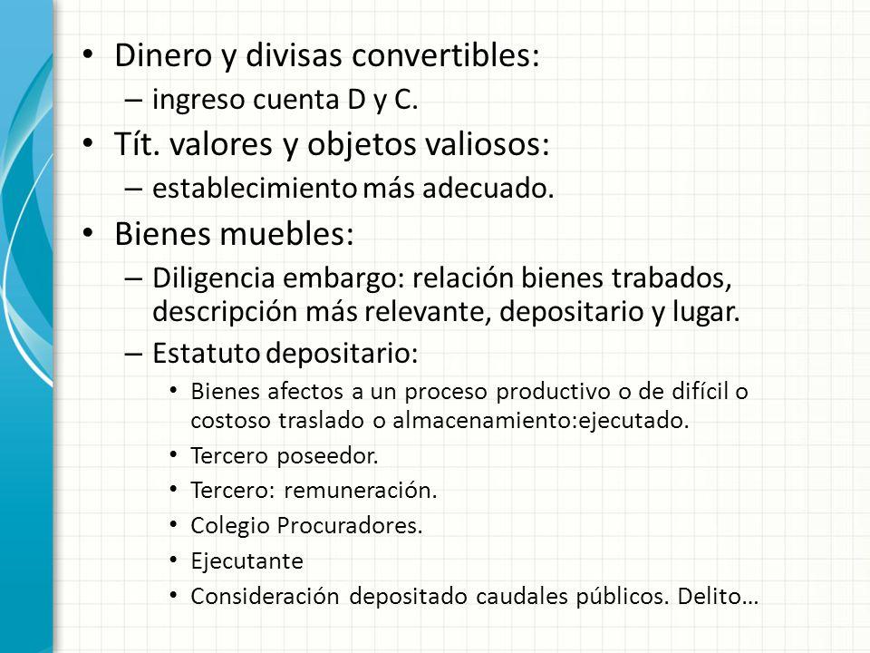 Dinero y divisas convertibles: – ingreso cuenta D y C.