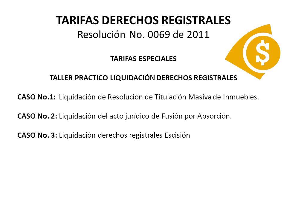 TARIFAS DERECHOS REGISTRALES Decreto 2280 de 2008 INSTRUCCIÓN ADMINISTRATIVA No.