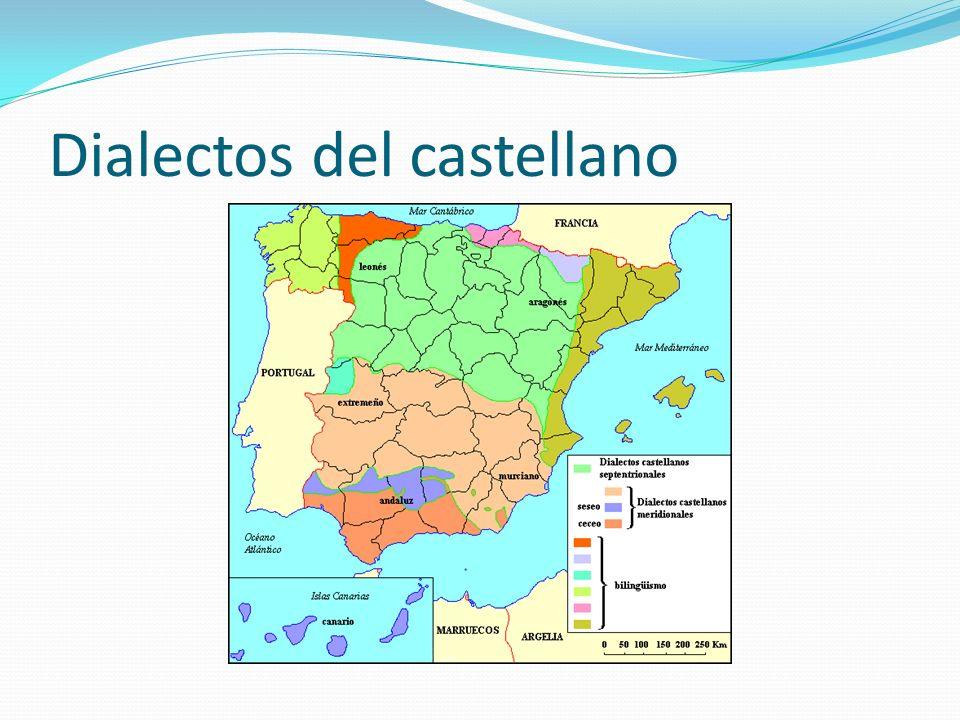 Dialectos septentrionales Se entiende por español septentrional a la modalidad del español empleada en el centro y norte de España (área que va desde Cantabria por el norte a La Mancha en el sur y toda la comunidad autónoma de Castilla y León hasta Aragón) por oposición al español meridional o andaluz.