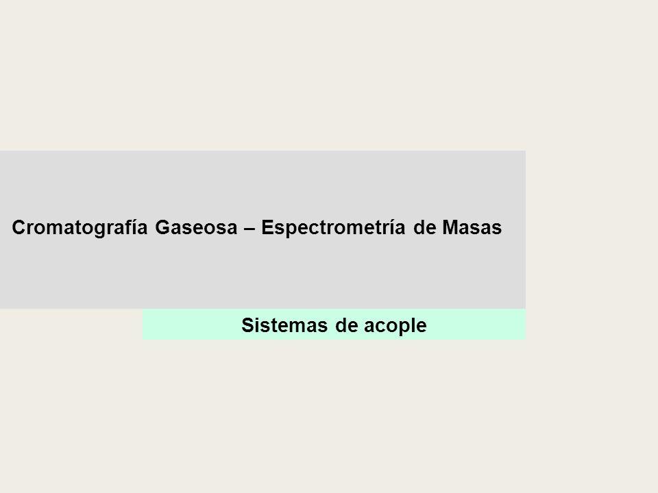 Sistemas de acople Cromatografía Gaseosa – Espectrometría de Masas