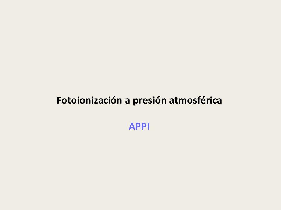 Fotoionización a presión atmosférica APPI