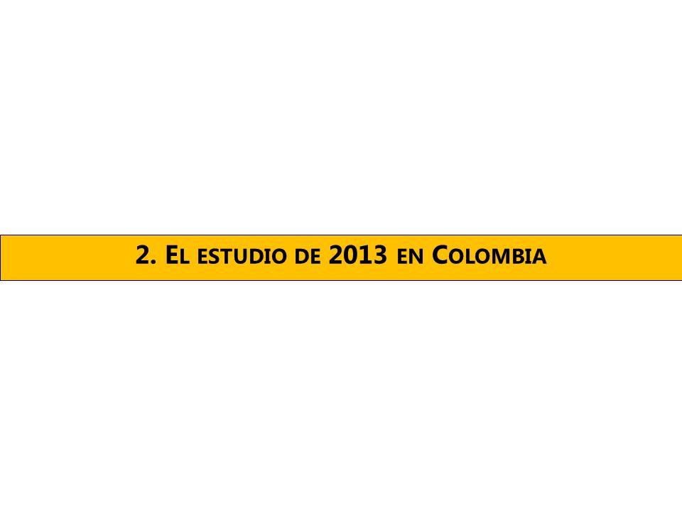 2. E L ESTUDIO DE 2013 EN C OLOMBIA