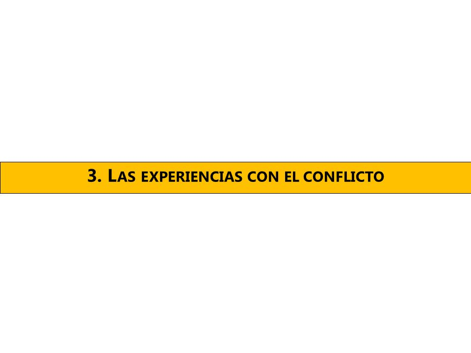 3. L AS EXPERIENCIAS CON EL CONFLICTO
