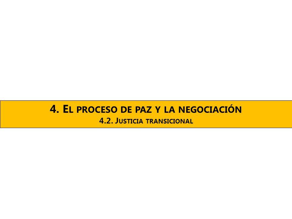4. E L PROCESO DE PAZ Y LA NEGOCIACIÓN 4.2. J USTICIA TRANSICIONAL