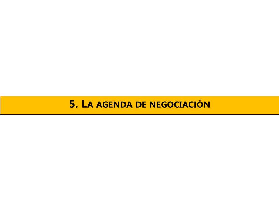 5. L A AGENDA DE NEGOCIACIÓN